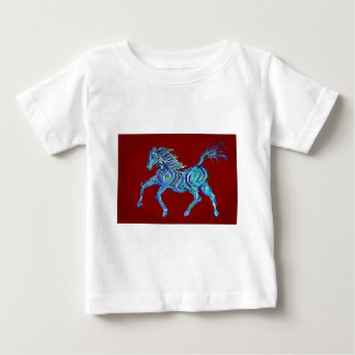 Painted Blue Horse T-shirt