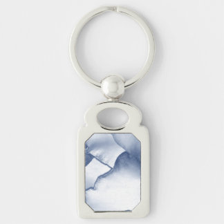Painted Blue Petals Keychain