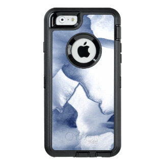 Painted Blue Petals OtterBox Defender iPhone Case