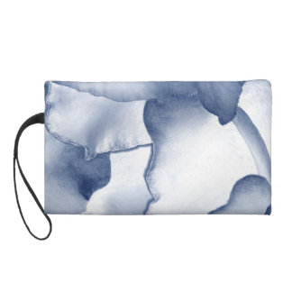Painted Blue Petals Wristlet