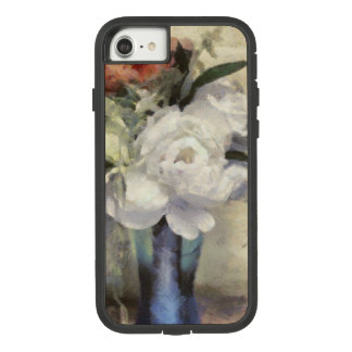 Painted Bridal Floral Bouquet Blue Vase Peony Case-Mate Tough Extreme iPhone 8/7 Case