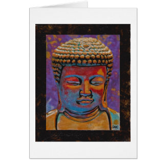 Painted Buddha, Framed Card
