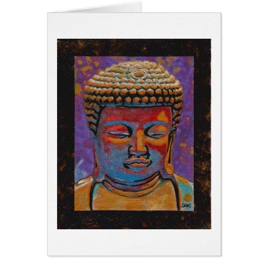 Painted Buddha, Framed Card