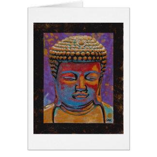 Painted Buddha Framed Greeting Card