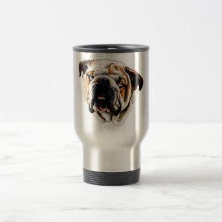 Painted Bulldog Face Travel Mug