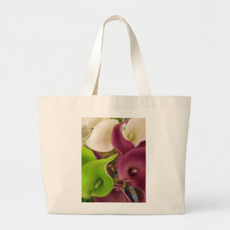 Painted Calla Lilies Large Tote Bag