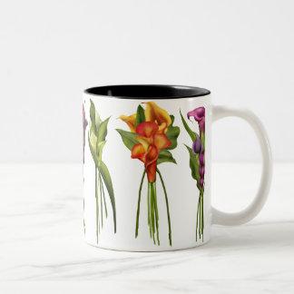 Painted Callas Two-Tone Coffee Mug