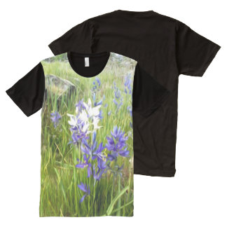 Painted Camas Blooms Wearable Art