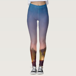 Painted Campground Leggings
