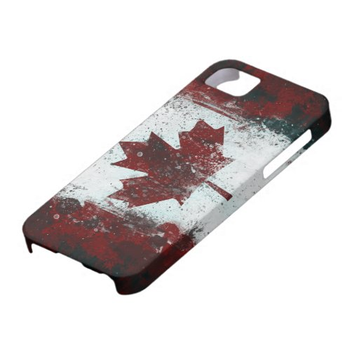 Painted Canadian Flag iPhone 5 Case
