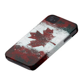 Painted Canadian Flag Case-Mate iPhone 4 Case