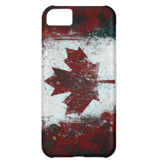 Painted Canadian Flag iPhone 5C Cover