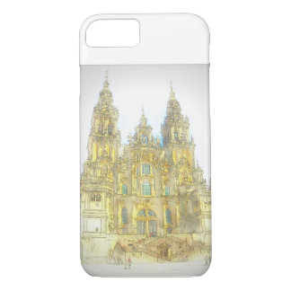 Painted Cathedral in Santiago, Spain iPhone 8/7 Case