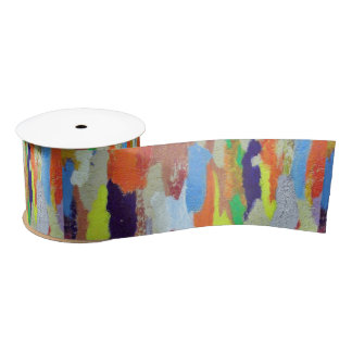Painted cement ribbon satin ribbon