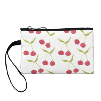 Painted Cherry Clutch Coin Wallet