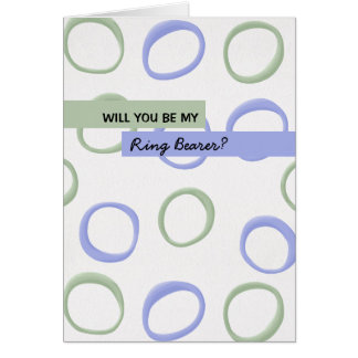Painted Circles lavender Be My Ring Bearer Greeting Card