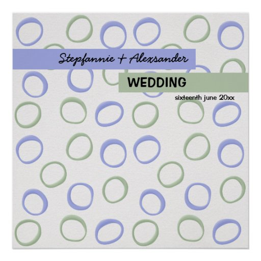 Painted Circles lavender Wedding Poster