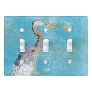 Painted Coastal Great Blue Heron Light Switch