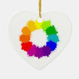 Painted Color Wheel Artist and Art Teacher Ceramic Ornament