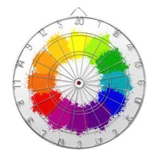 Painted Color Wheel Artist and Art Teacher Dartboard