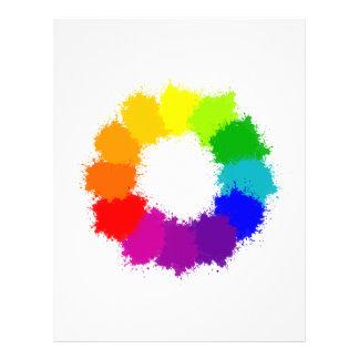 Painted Color Wheel Artist and Art Teacher Letterhead