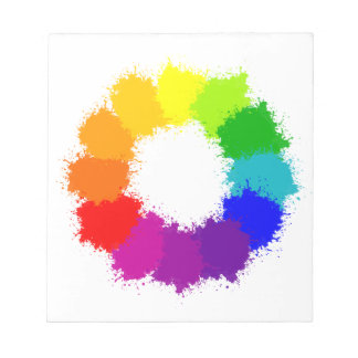 Painted Color Wheel Artist and Art Teacher Notepad