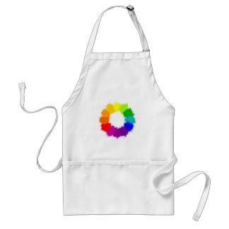 Painted Color Wheel Artist and Art Teacher Standard Apron