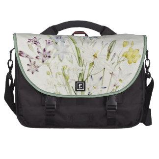 Painted Conanthera Flower Bouquet Vintage Script Laptop Commuter Bag