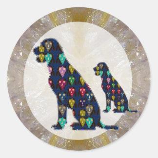 Painted Dog Pet Animal Labrador mans best friend Round Sticker