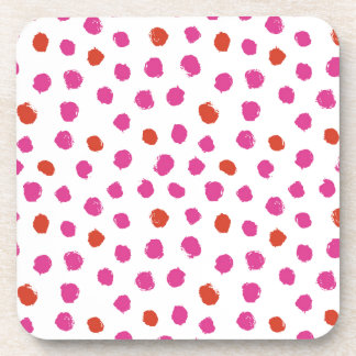 Painted Dots Beverage Coaster