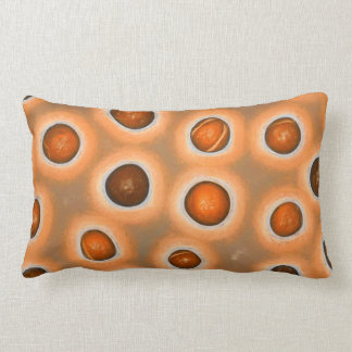 painted dots pillow original art fun decor