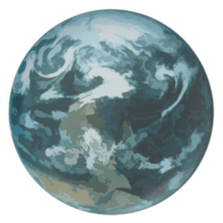 Painted Earth Party Plate