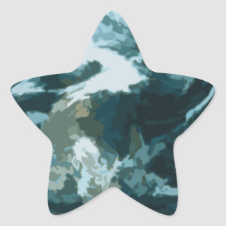 Painted Earth Star Sticker