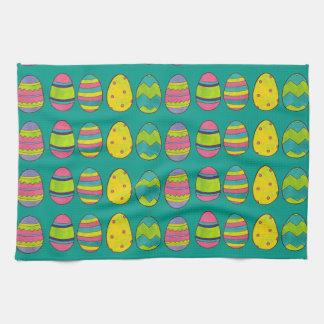 Painted Easter Decor Basket Egg Hunt Eggs Towel
