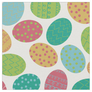 Painted Easter Eggs Fabric
