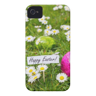 Painted Easter eggs in grass with white daisies Case-Mate iPhone 4 Case