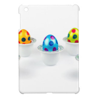 Painted easter eggs standing in porcelain egg cups iPad mini cover