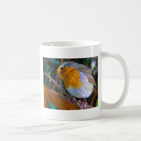 Painted Effect Robin Coffee Mug