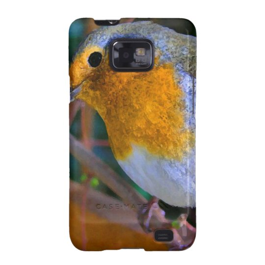 Painted Effect Robin Galaxy SII Cases
