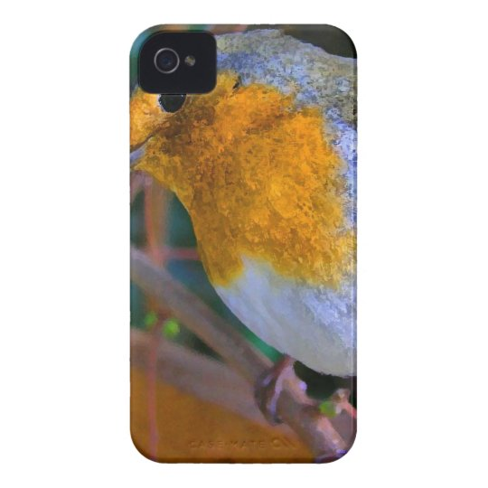 Painted Effect Robin iPhone 4 Covers