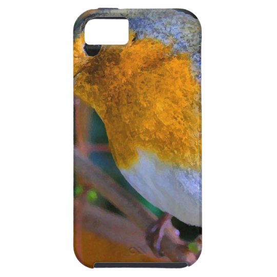 Painted Effect Robin iPhone 5 Case