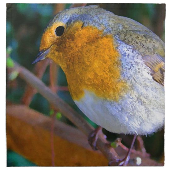 Painted Effect Robin Napkin