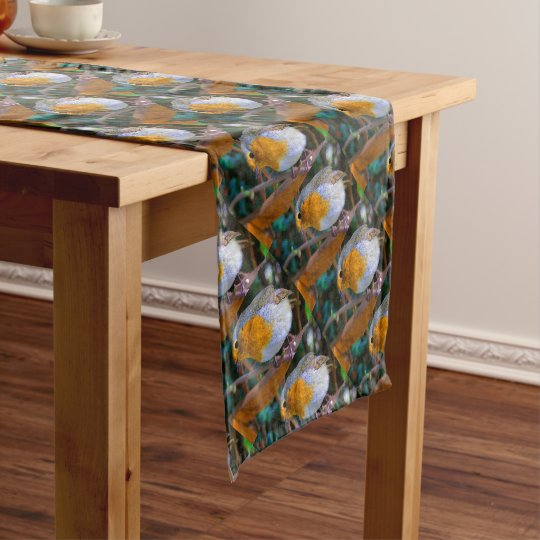 Painted Effect Robin Short Table Runner