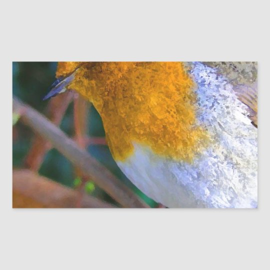 Painted Effect Robin Sticker