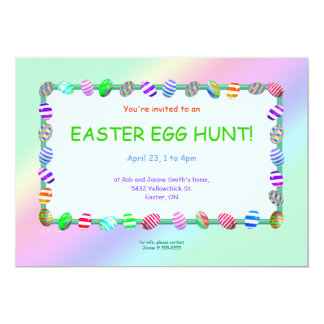 Painted Eggs Easter Egg Hunt Card