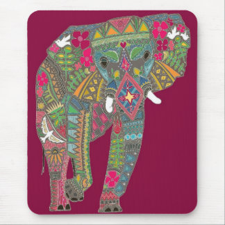 painted elephant mouse pad