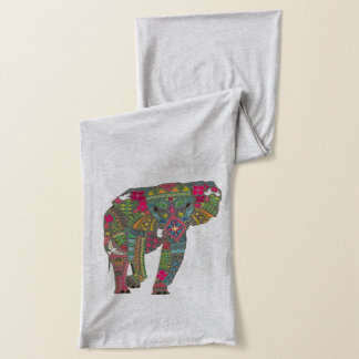 painted elephant scarf