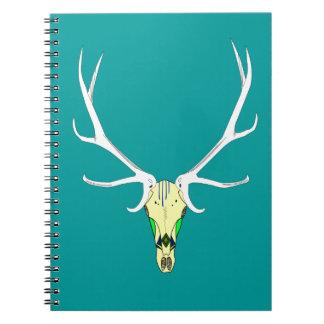 Painted Elk Skull Notebook