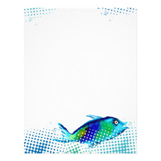 painted fish fresh seafood chef catering menu letterhead