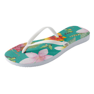 Painted Flora Flip Flops